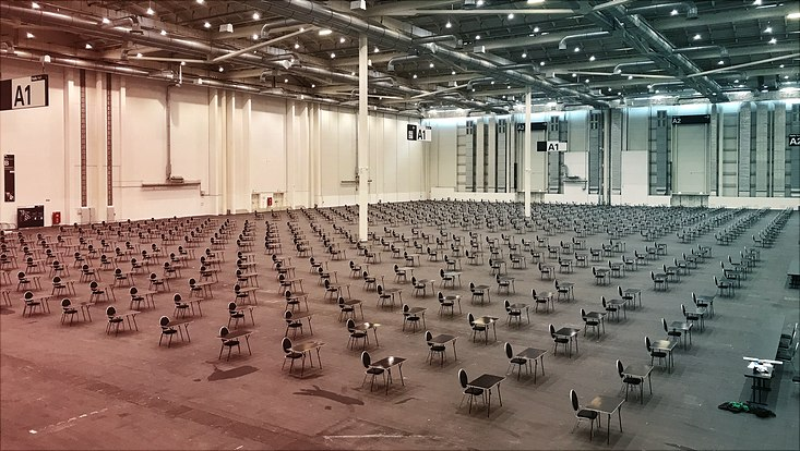 Messehallen sind vorbereitet für die UHH-Prüfungen