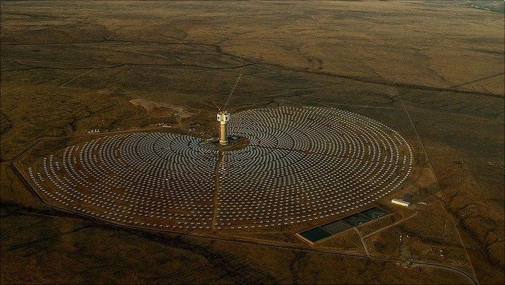 Solarfarm in Suedafrika aus der Luft