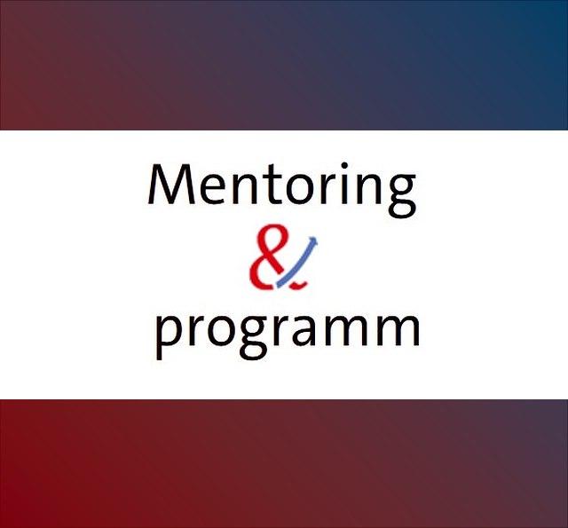 Schriftzug Mentoring & programm
