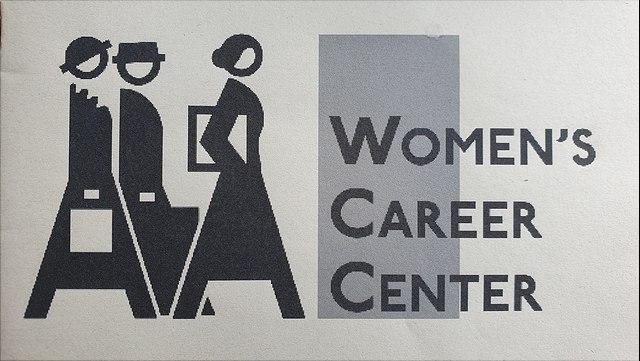 Logo des Women's Career Center: Drei stilisierte voranschreitende Frauen