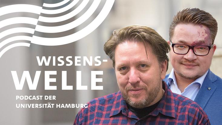 Prof. Dr. Thorsten Logge und Nils Steffen vom Arbeitsbereich Public History