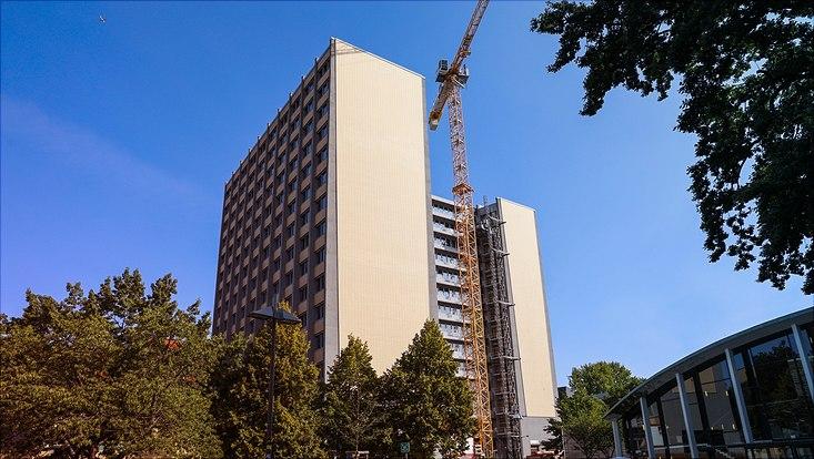 Der Philosophenturm am Hauptcampus Von-Melle-Park der Universität Hamburg