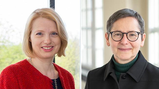 Die Vizepräsidentinnen Prof. Dr. Jetta Frost (l.) und Prof. Dr. Susanne Rupp