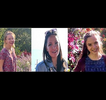 Bild: Stipendiatinnen Helen, Lea und Margarita