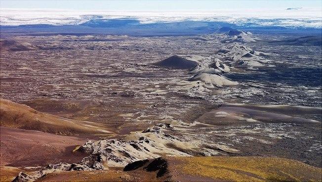 Image of a crater landscape