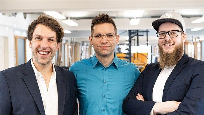 """Das Team von """"neurodactics"""" (v. l.): Jonas Vierth, Torben Rieckmann und Christopher Hof"""