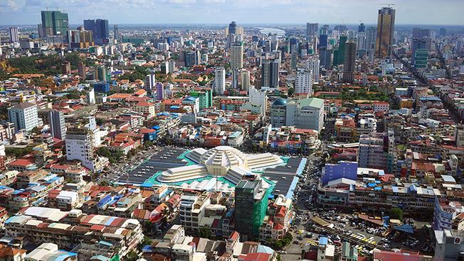 Stadtlandschaft Phnom Penh