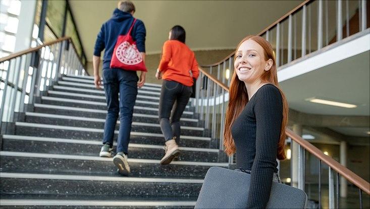 Studierende an der Universität Hamburg