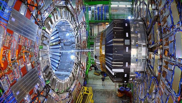 Blick auf den CMS-Detektor am Large-Hadron-Collider (LHC) am CERN