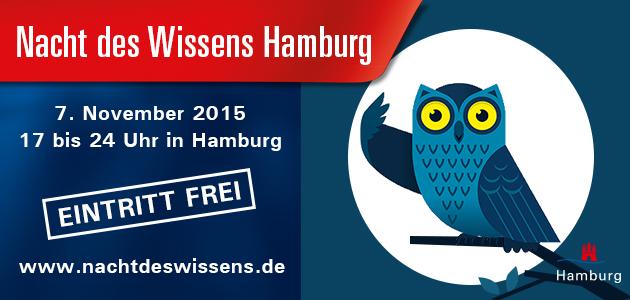 Am 7. November 2017 ist Nacht des Wissens in Hamburg
