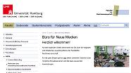 Screenshot der Homepage vom Büro für Neue Medien der Fakultät für Rechtswissenschaft
