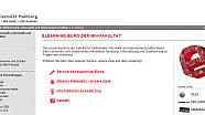 Screenshot der Homepage des eLearning-Büros der Fakultät für Mathematik, Informatik und Naturwissenschaften