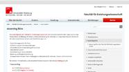 Screenshot der Homepage des eLearning-Büros der Fakultät für Erziehungswissenschaft