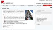 Screenshot der Homepage des eLearning-Büros der Fakultät für Geisteswissenschaften