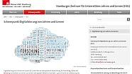 Screenshot der Homepage vom Schwerpunktbereich Digitalisierung von Lehren und Lernen