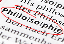 """Der Begriff """"Philosophie"""" in einem Lexikon"""