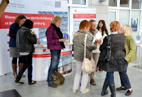 Information stand on contact studies for older adults