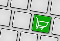 Tastatur mit grüner Einkaufswagentaste