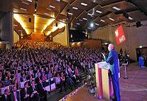 Immatrikulationsfeier im Audimax mit Präsident Prof. Dr. Dieter Lenzen