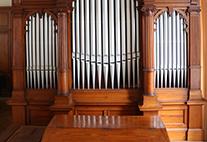 Die restaurierte Walcker-Orgel im Musikwissenschaftlichen Institut