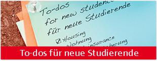 Banner Erste Schritte für Studierende