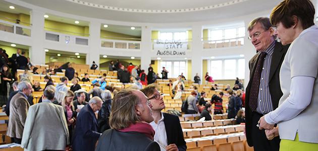 Gespräch im Hörsaal am Dies Academicus 2014