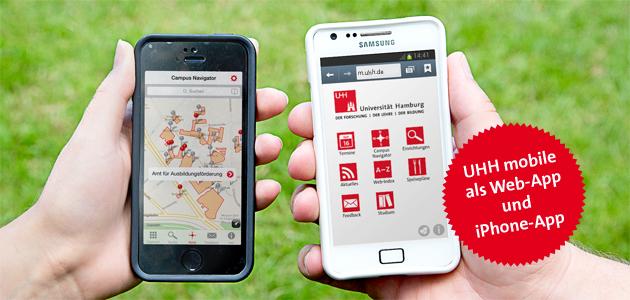 Zwei Smartphones mit der App