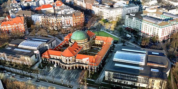 Luftaufnahme der Universität Hamburg