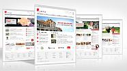 Mehrere abgebildete Webseiten der Universitäts-Homepage