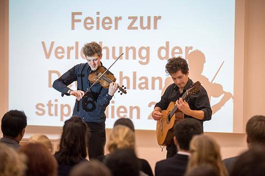 Musiker Riemer und Caspar