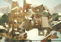 Collage aus Turmbau zu Babel mit Buchstaben