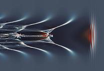 Simulationsrechnung der Plasmawelle in der LUX-Kapillare.