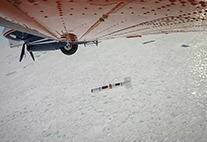 Eisdickenmessung mit dem Flugzeug
