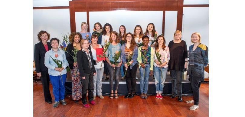 Gruppenfoto der Preisträgerinnen des Gleichstellungspreises 2016