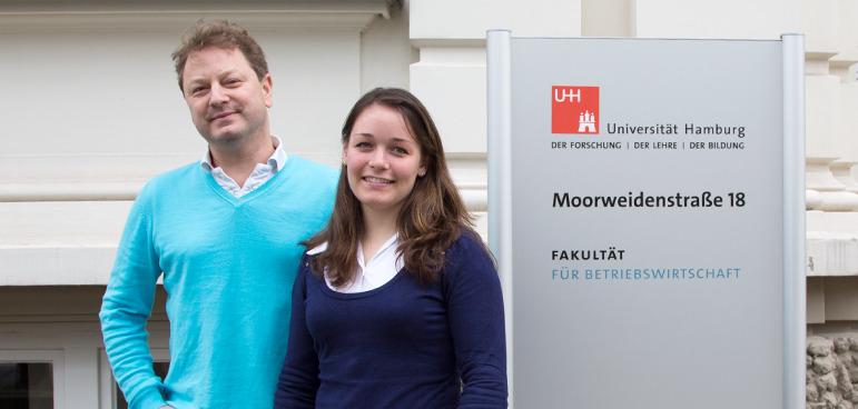 Prof. Michel Clement und Petra Schulz