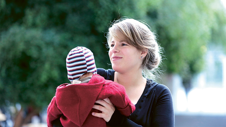 Nyla Becker mit Kind