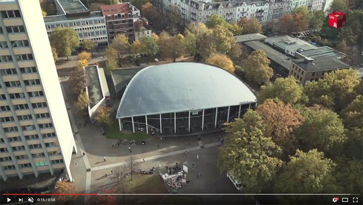 Campus Von-Melle-Park von oben, mit Drohne gefilmt