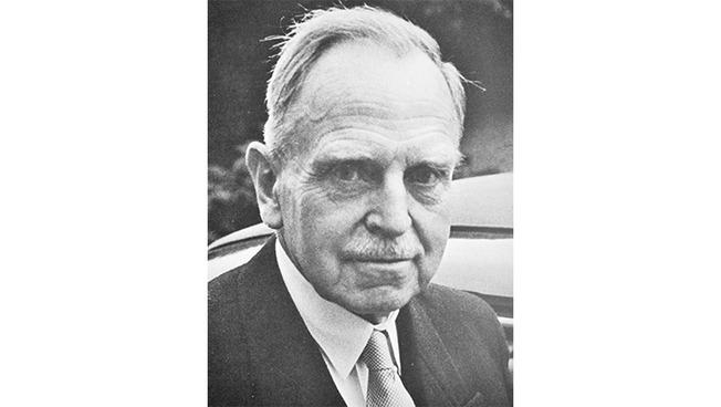 Porträtfoto von Otto Hahn