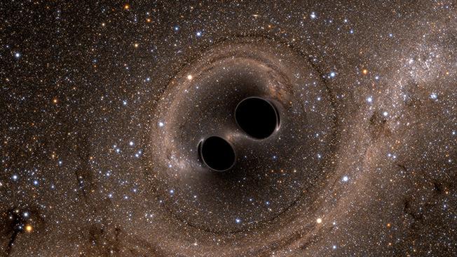 Simulation der Kollision von zwei Schwarzen Löchern