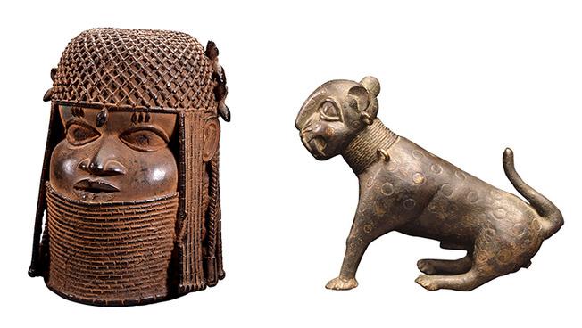 Zwei der Benin-Bronzen