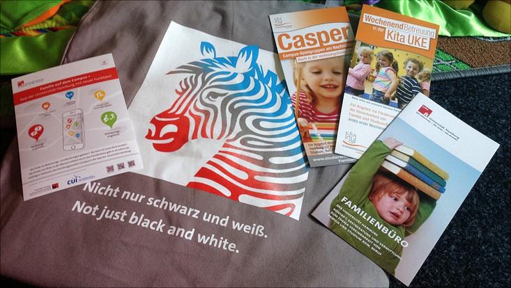 """Eine Auswahl an Infomaterialien zum Thema """"Familienfreundliche Universität"""""""