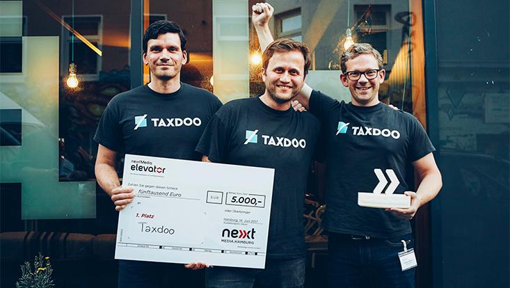 Taxdoo gewinnt beim nextMedia.Elevator 2017 5000€