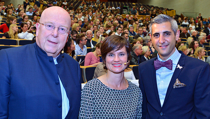 Prof. Dr. Dieter Lenzen, Katrin Greve und Michel Abdollahi