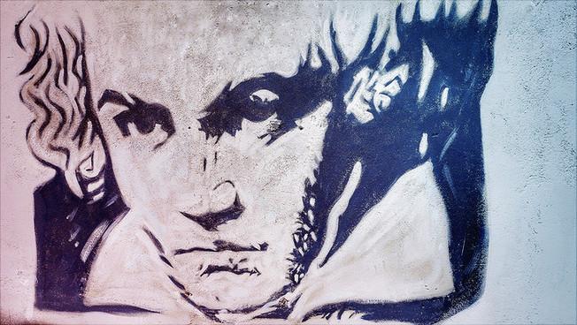 Graffiti von Beethoven