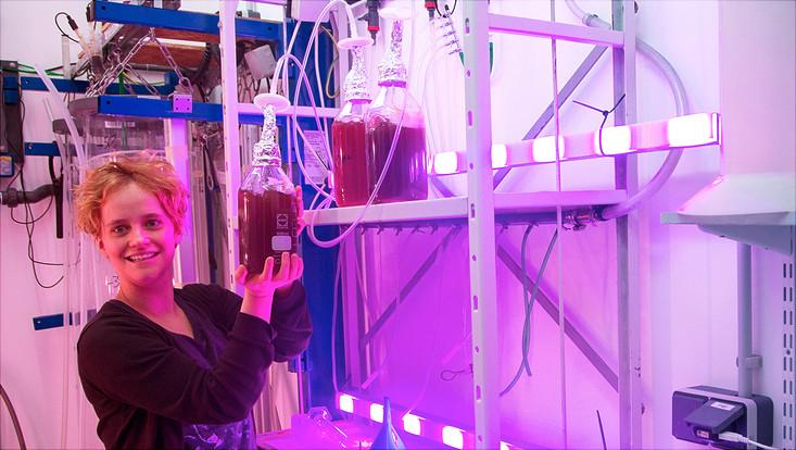 Elisa Schaum mit Plankton