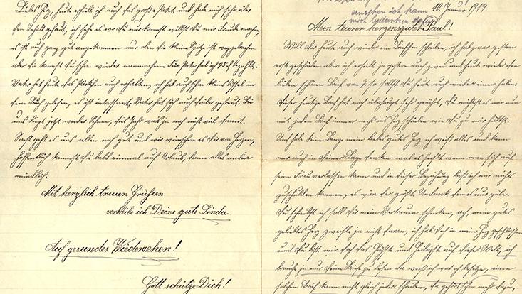 Feldpostbrief aus dem Jahr 1917