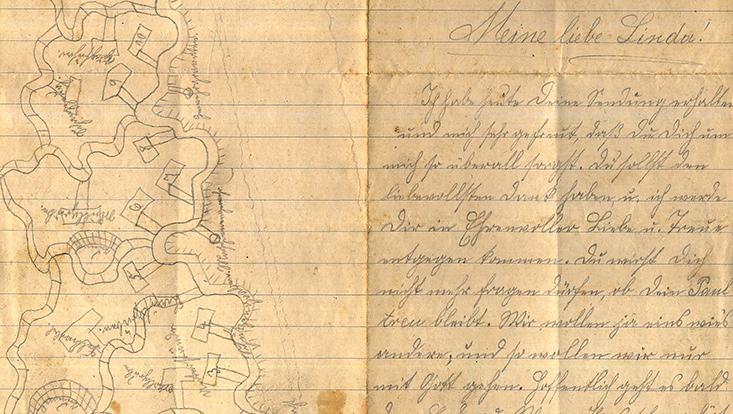 Feldpostbrief aus dem Jahr 1915