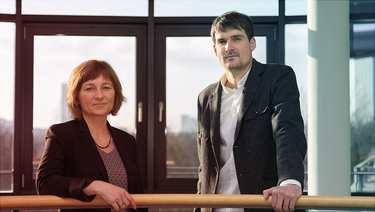 Prof. Dr. Petra Böhnke und Sebastian Link