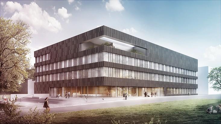 Illustration des künftigen Forschungsgebäudes auf dem Campus Bahrenfeld.