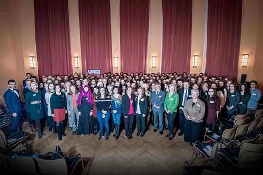 Gruppenbild von der Verleihung des Deutschlandstipendiums 2018